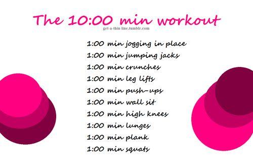 10 min workout. No equipment.