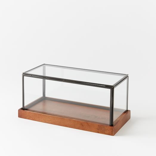 Wood + Glass Display Case, Long, 12                              …