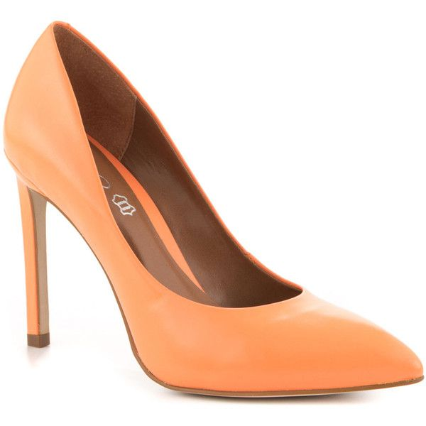 Aldo Women's Edilania - Orange ($55) ❤ liked on Polyvore featuring shoes, pumps, high heel court shoes, synthetic shoes, orange shoes, aldo footwear and orange high heel shoes