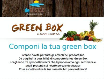 Chiamaci ed ordina la tua Greenbox personalizzata allo 081 5515218 oppure visita il nostro sito e scegli tra centinaia di prodotti bio.