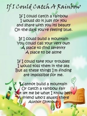 if i could catch a rainbow poem - Google Search