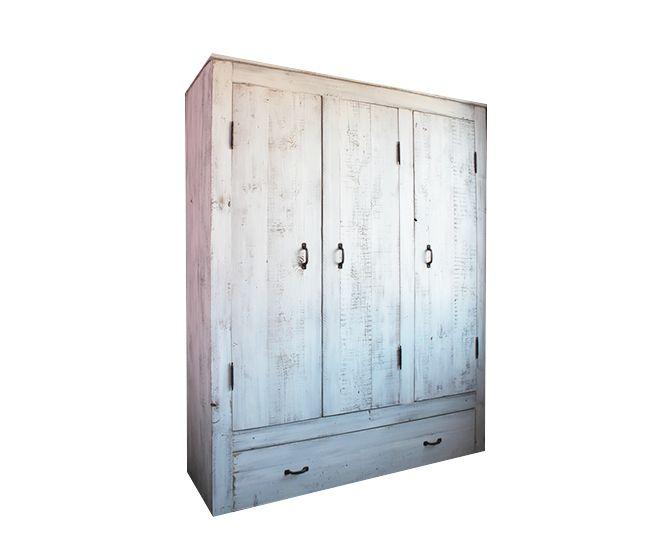 Heb je veel bergruimte nodig? Ben je op zoek naar een stoere maar stijlvolle kast? Wij maken in eigen werkplaats mooie splintervrije steigerhouten kasten in alle gewenste afmetingen enin diverse kleurstellingen.3-deurskast Nynke robuust wit steigerhout. Het is natuurlijk ook mogelijk de kast in een andere kleur te bestellen!