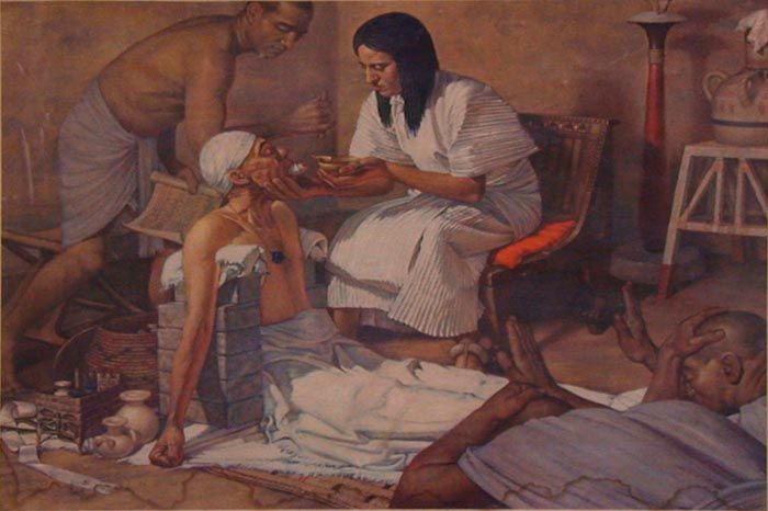 """Ancient Egyptian Medicine - Fenugreek  """"When the skin is rubbed with it, the skin is left beautiful without blemishes.""""  Ancient Egyptian recipe for Fenugreek ointment, c. 1500 BC. (ref. The Complete Medicinal Herbal by Penelope Ody)"""