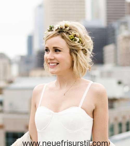 Braut Kurze Frisur Peinados In 2019 Hochzeitsfrisuren Kurze