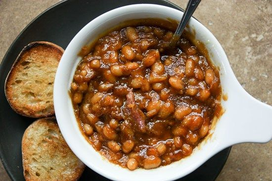 Slow Cooker Boston Baked Beans 2 pounds navy beans, rinsed, picked ...