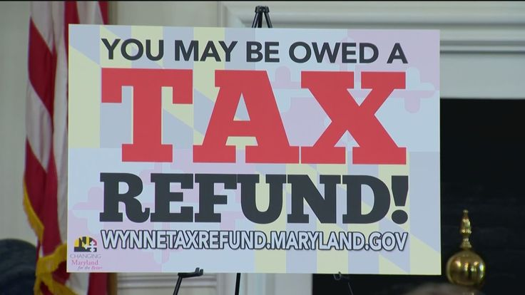 Gov. Larry Hogan announced that hundreds of millions of dollars will be going back to Maryland residents in the form of tax refunds.