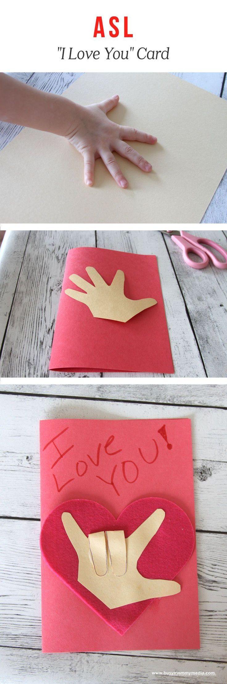 ASL I-Love-You Craft