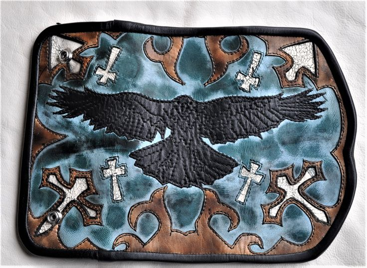 Raven Storm Brewing Custom one-of-a-kind leather work. Premium leather wallet designed and crafted from start to finish by me, www.eddiebratleather.com Beautiful inside and out, high end workmanship, high end leather.