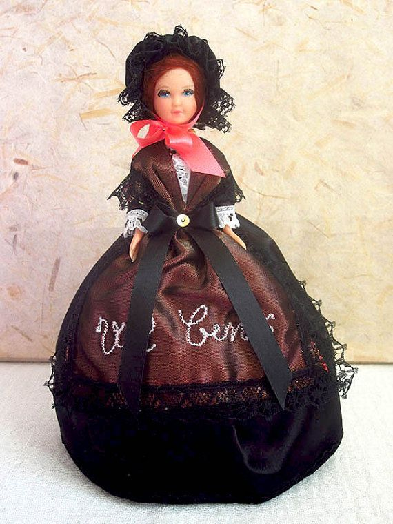Very pretty doll in a costume of the Maurienne Valley, representing the ski resort of Val Cenis, in the Savoie Region of France, in the French