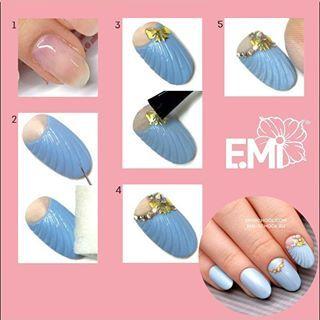 Пошаговый мастер‑класс:  1. Подготавливаем ногтевую пластину. Покрываем E.MiLac BASE GEL ... - Ekaterina MIroshnichenko (@emiroshnichenko)