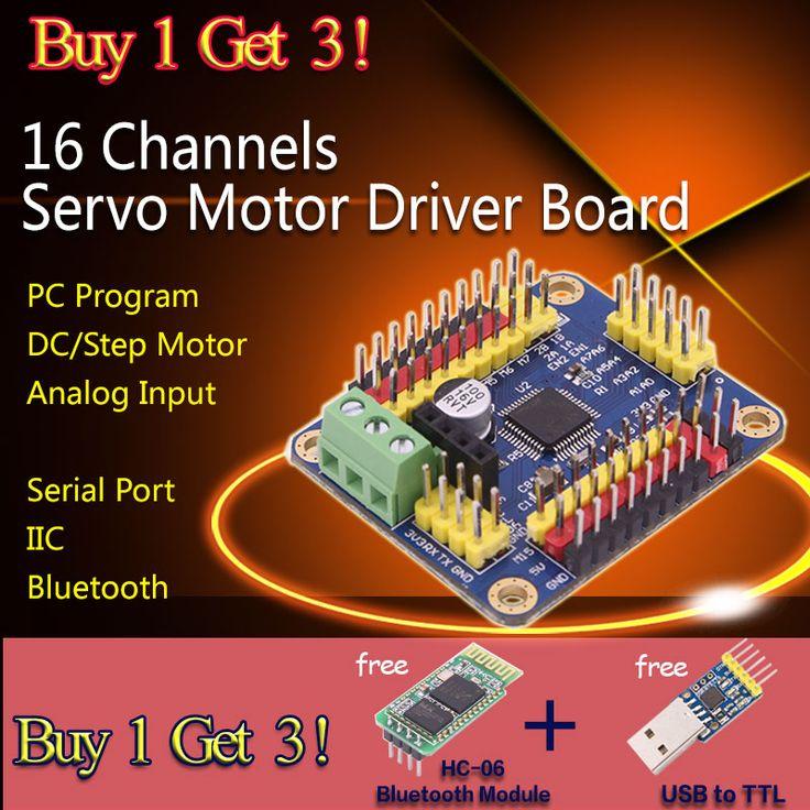 Pas cher Servo moteur carte de commande 16 canaux PC logiciel APP Robot série port IIC Bluetooth analogique entrée, Acheter  Autres composants électriques de qualité directement des fournisseurs de Chine:                 Télécharger adresse:                Google drive:           Https://drive.google.com/file/d/0B8Pm