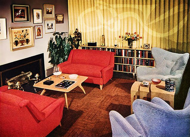 9 best 50s 60s interior trends images on pinterest - 1950 s living room decorating ideas ...