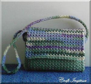 Waffle Shoulder Bag: free pattern Crochet Wearables & Bags Pinter ...