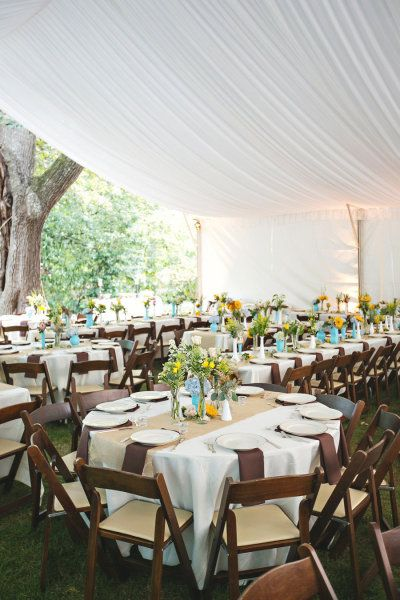 tented backyard reception