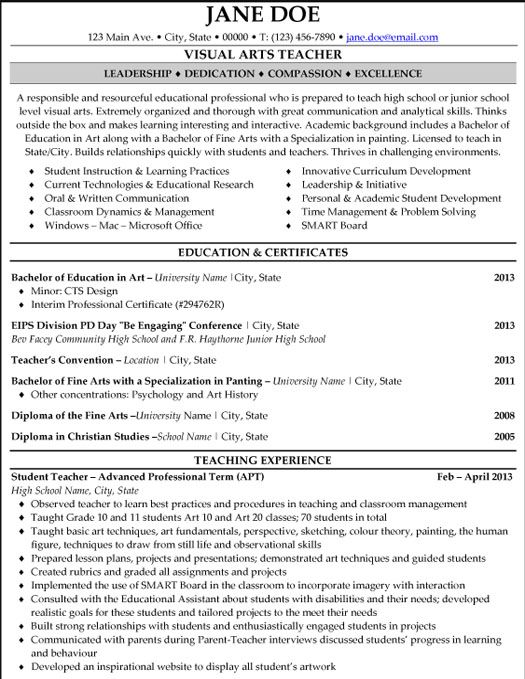 teacher resume template pdf resumes teaching format free download elementary templates