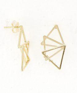 Boucles d'oreilles géométriques triangles en métal @alexanneparis