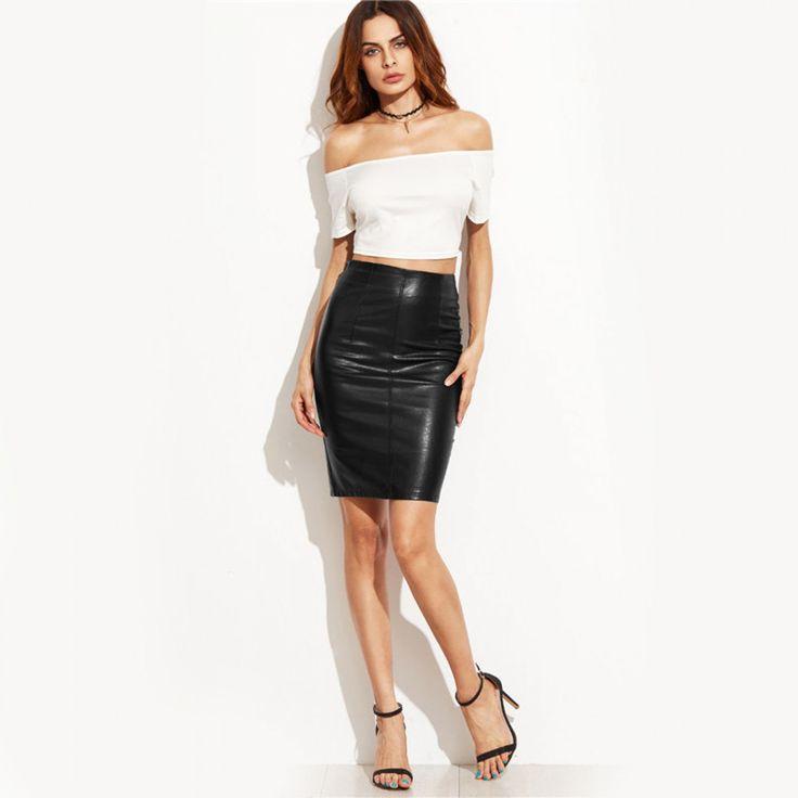 Fashion Clothes Woman Skirts 2017 Female Sexy Clothing Spring Summer Punk High Street Stylish Black Bodycon PU Leather Skirt