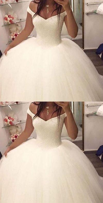 OFF THE SHOULDER BALL GOWN WEDDING DRESSES,BRIDAL GOWN, 2017 BALL GOWN WEDDING DRESSES, DRESSES FOR BRIDAL, ELEGANT PROM DRESSES,361