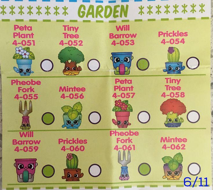 Shopkins Season 4 Checklist Garden
