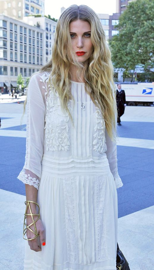 SPRING + SUMMER MUST-HAVE: WHITE EMBROIDERED DRESS -- Click for details on how to get the look...