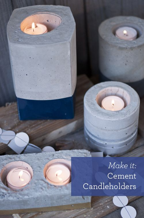 DIY: Cement Candleholders - Design Mom