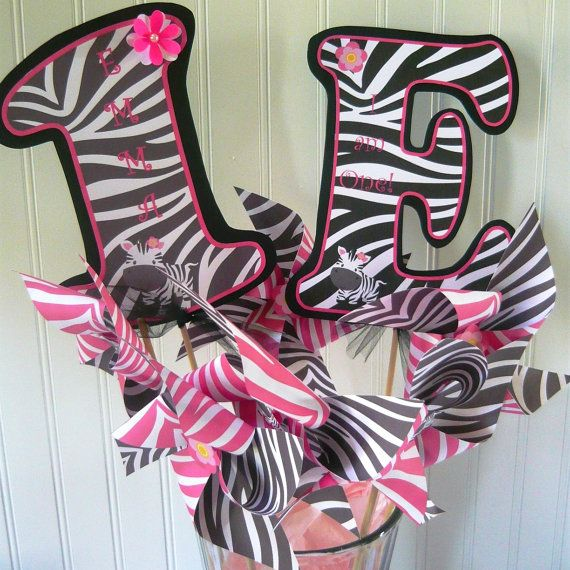 Zebra birthday decorations
