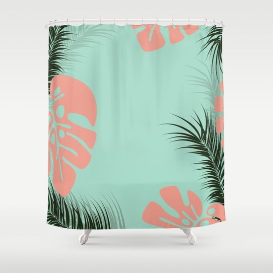 Customize your bathroom decor with unique shower curtains designed by artists around the world. Made from 100% polyester our designer shower curtains are printed in the USA and feature a 12 button-hole top for simple hanging. The easy care material allows for machine wash and dry maintenance. Curtain rod, shower curtain liner and hooks not included. Dimensions are 71in. by 74in. #S6GTP