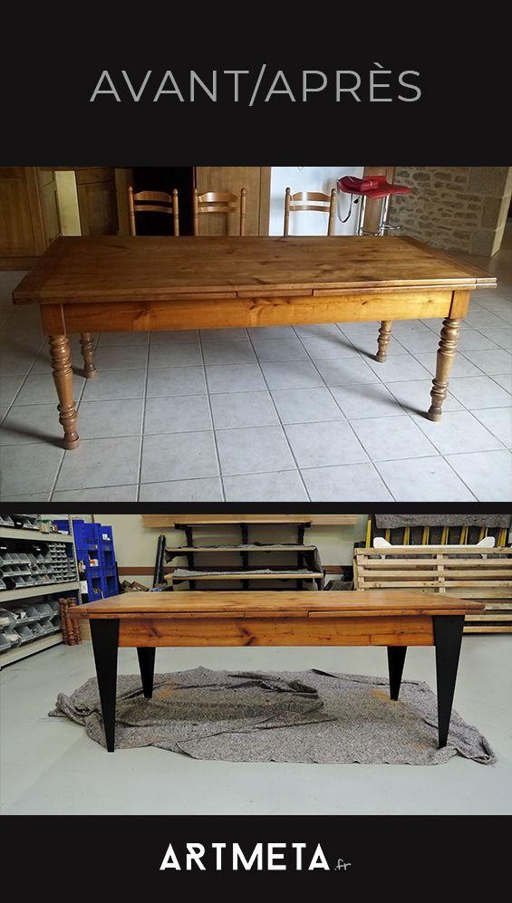Comment Relooker Votre Ancienne Table Avant Apres Vieille Table En Bois Relooker Salle A Manger Table Renove