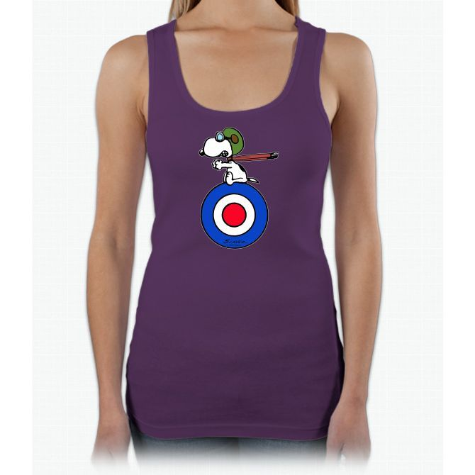 Snoopy - Flying Ace Ladies Triblend Racerback Tank