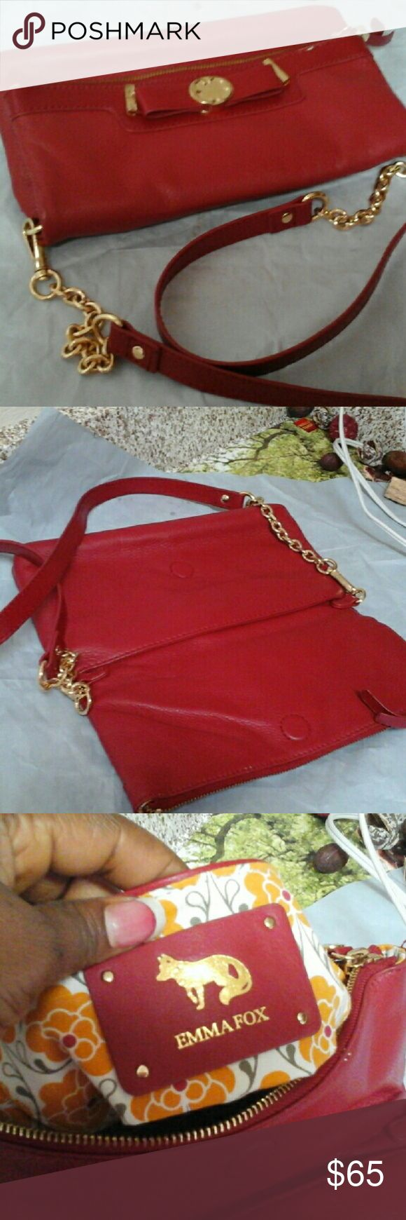 EMMA FOX ENVELOPE PURSE Very classy envelope purse for all year round occasion, inside and all corners are intact.can also be use as a cross body..it has a long strap Bags Shoulder Bags