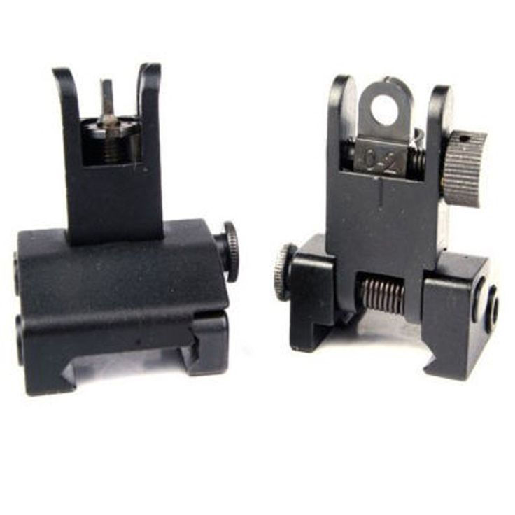 1 Pair Adjustable Low Profile Metal Flip Up Front Rear BUIS Metal Floding Backup Iron Sight for Rifle Hunting //Price: $44.99 & FREE Shipping //     #hunting #camping #outdoors #pocketdump #knives #knifeporn