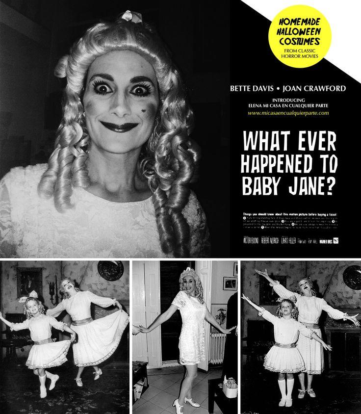 Disfraz de Halloween de Bette Davis en Qué fue de Baby Jane. What ever happened to Baby Jane Halloween Costume | Blog www.micasaencualquierparte.com