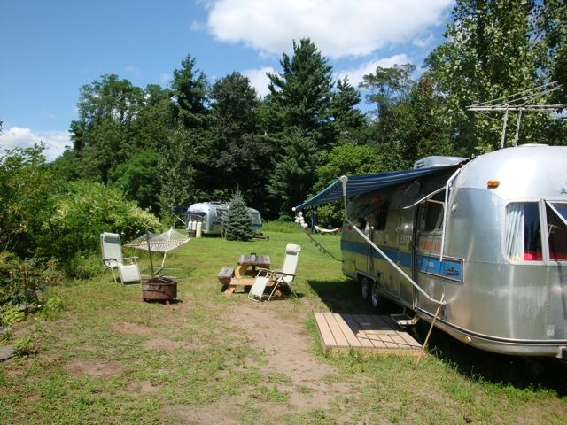 Airstream Caravans At Lazy Meadow Catskills Mountains NY Retro Fun Run By Kate Pierson Of The B52s