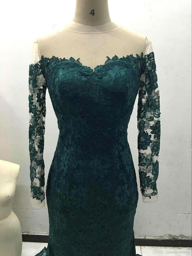 Kleid dunkelgrun spitze