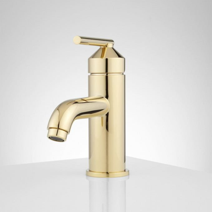 Pvd Polished Brass With Images Brass Bathroom Faucets Single