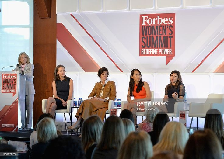 Greta Van Susteren, Christy Turlington Burns, Bodil Eriksson, Jane Chen and Lynsey Addario speak onstage during the 2016 Forbes Women's Summit at Pier Sixty at Chelsea Piers on May 12, 2016 in New York City.