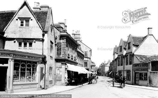 Corsham, High Street 1904. Not in #Cornwall of course, but #Corsham is used in some of the market town scenes for new #BBC #Poldark series.