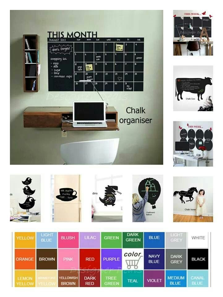 Small office idea with chalk board