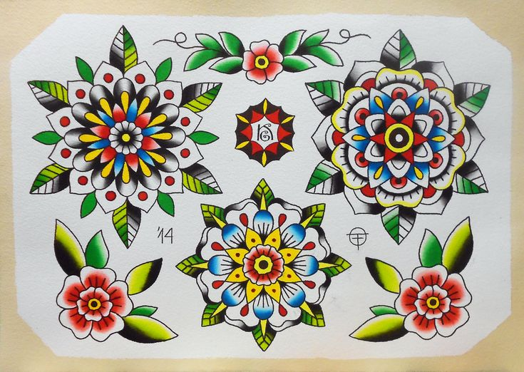 ... flower mandala oldtimetattoo tattoo tattoos watercolor rainy days