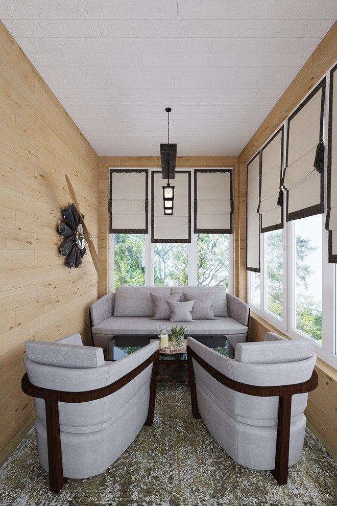 Лоджия. Интерьер дома в современном стиле в Рекхолово, 250 кв.м.