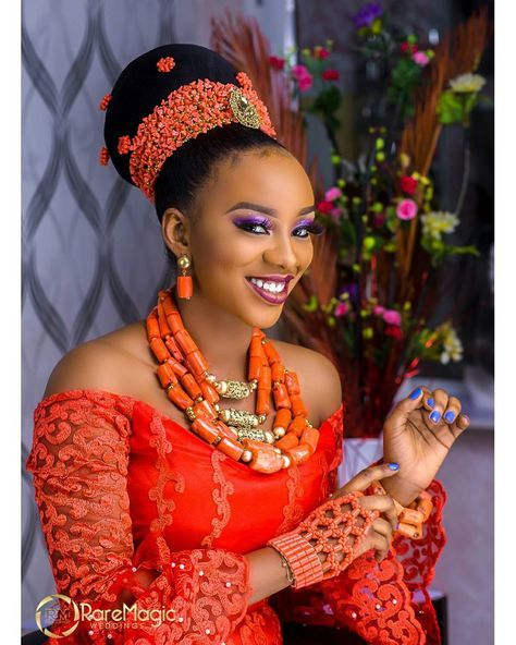 "320 Likes, 4 Comments - WEDDING PHOTOGRAPHY COMPANY (@raremagic_gallery) on Instagram: ""Exotic igbo bride ........ too much sauce.... Mua @glammebyshay Hair @dbeautyworld Beads…"""