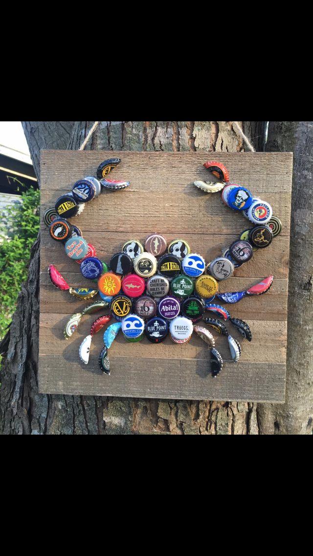Beer caps crab