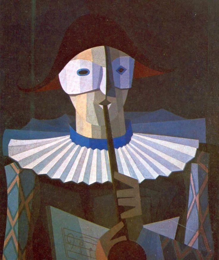 Emilio Pettoruti - Arlequin, 1950