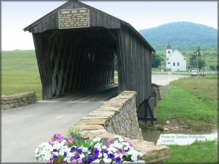 The Goddard Covered Bridge located southeast of Flemingsburg is the only surviving example of Ithiel Town Lattice design in Kentucky. #kentucky #coveredbridge