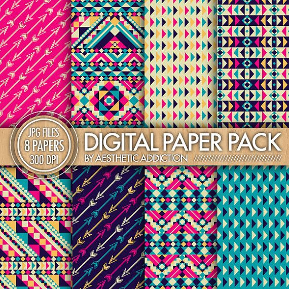 Blue Tribal Wallpapers: 229 Best Images About Scrapbook Papel On Pinterest