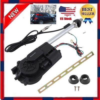 Car SUV Auto AM FM Radio Electric Power Automatic Antenna Aerial Kits Universal