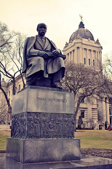 Taras Shevchenko monument erected in Winnipeg in 1961 at  Legislature grounds  Winnipeg, MB