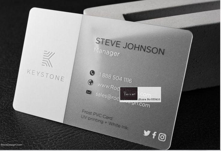 500 Pcs Lot Transparent Pvc Cartes De Visite Secteur Des Cartes De Visite Impression De Carte Clear Business Cards Plastic Business Cards Photo Business Cards
