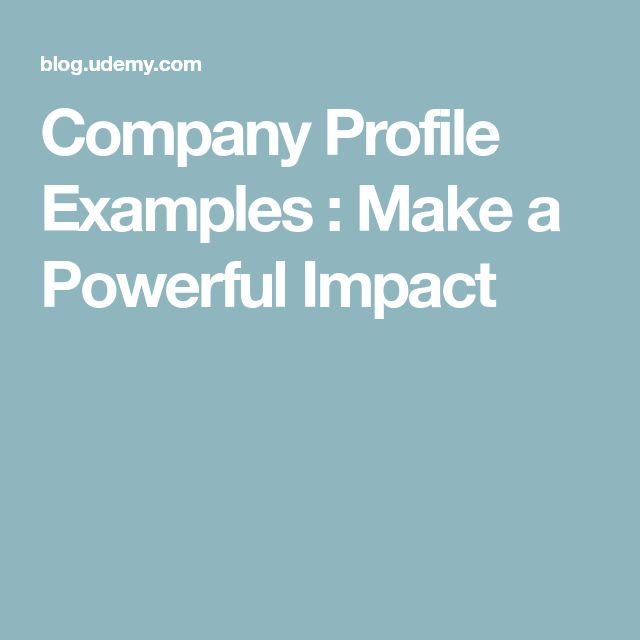 Company Profile Examples : Make a Powerful Impact