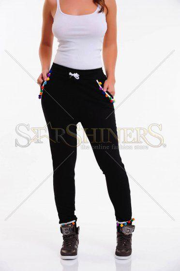 Pantaloni Ocassion Happy Pocket Black